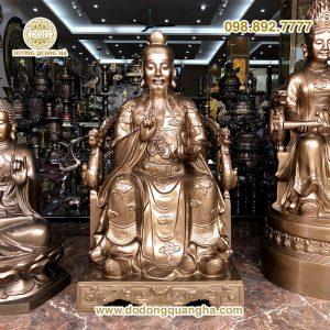 Tượng Ngọc Hoàng thượng đế bằng đồng cao 1m27
