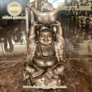 Tượng Phật Di Lặc khảm tam khí