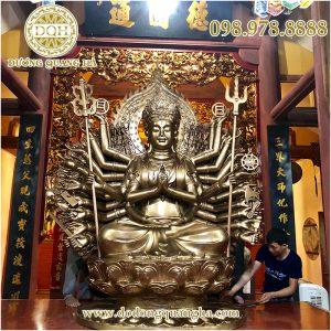 Tượng Phật Quan Thế Âm Bồ Tát thiên thủ thiên nhãn 2m