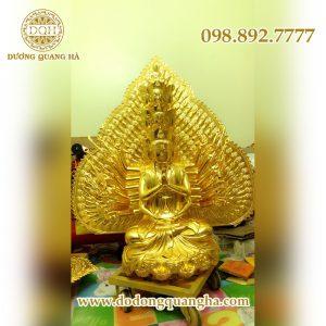 Tượng Phật Thiên Thủ Thiên Nhãn dát vàng 9999