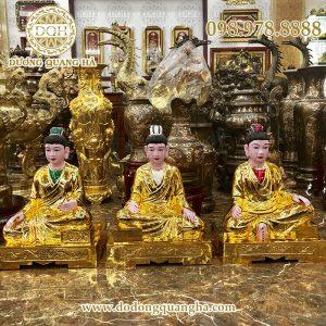 Tượng Tam Toà Thánh Mẫu cao 81 cm mạ vàng
