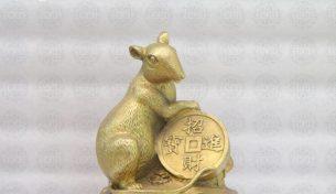 Ý nghĩa phong thuỷ của tượng chuột bằng đồng