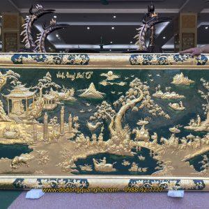 Tranh đồng Vinh Quy Bái Tổ dát vàng 9999 hàng đặt