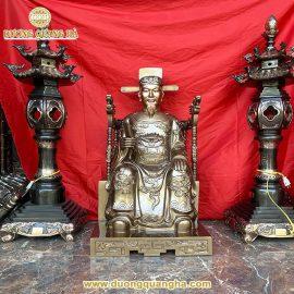 Tượng đồng Thành Hoàng Làng cao 127cm
