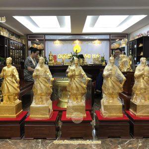 Tượng Trần Hưng Đạo cao 90cm dát vàng 9999