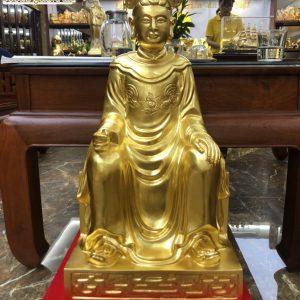 Tượng đồng Mẫu Thượng Ngàng dát vàng 9999