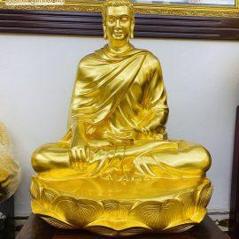 Tượng Phật Thích Ca dát vàng 9999 cao cấp
