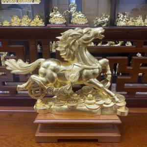 Tượng đồng Ngựa dát vàng 9999