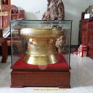 Quả trống đồng 50cm dát vàng 9999 đã bàn giao cho khách hàng
