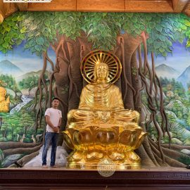Tượng Phật Thích Ca cao 3,8m dát vàng 9999