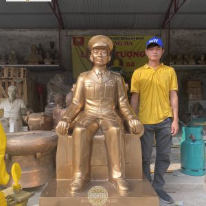 Tượng thờ Bác Giáp bàn giao tại Tỉnh Thái Bình