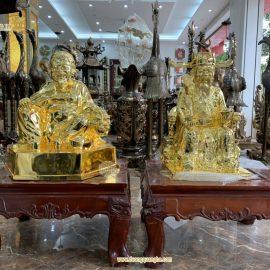 Tượng Thần Tài bằng đồng mạ vàng 18k